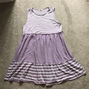 NWOT Francesca's purple babydoll dress